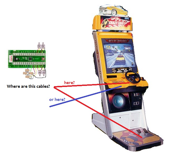 How to: use naomi crazy taxi cabinet with M A M E  in a PC ? - Sega